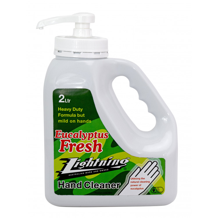LIGHTNING Hand Cleaner, eucalyptus and pumice based