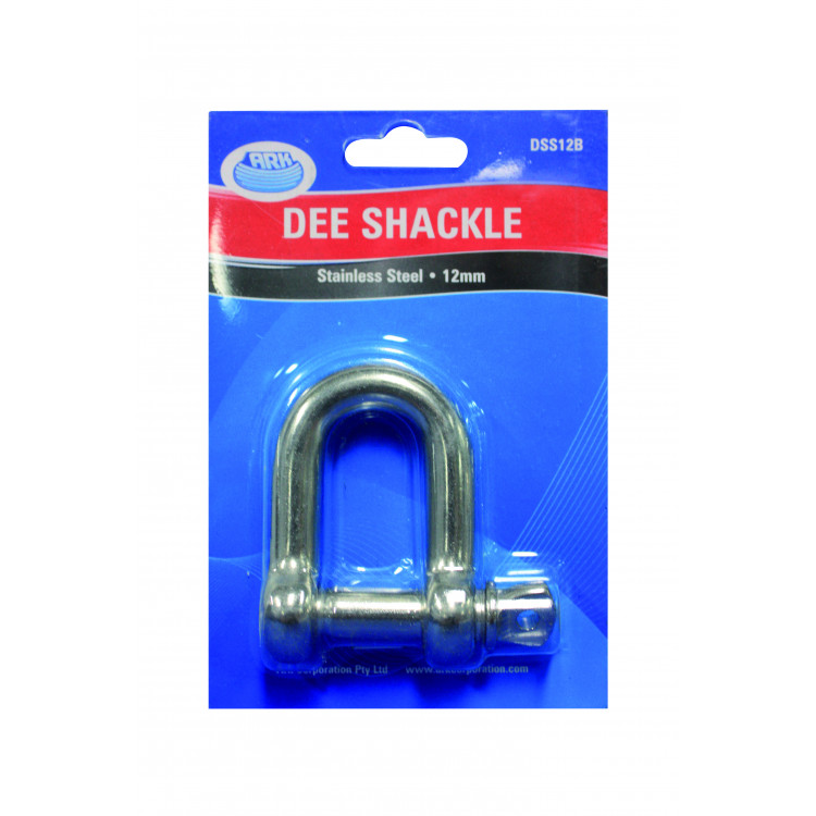 Ark D Shackle 8mm Stainless Steel