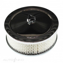 "TFIRACING Round 6&3/8"" X 2"" Chrome Filter assembly"