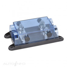 TWIN IN-LINE ANL FUSE HOLDER WITH TRANSPARENT COVER