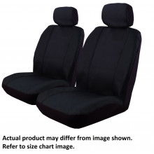 Ilana Outback Canvas black seat covers for Suitable For Toyota Hilux Dual Cab SR SR5 10/15 -On Black DS