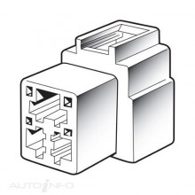 FEMALE HOUSING QUICK CONNECTOR  3 WAY 10
