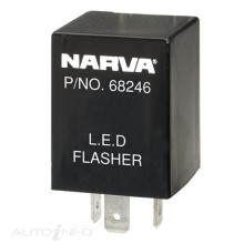 12 VOLT 3 PIN L.E.D FLASHER