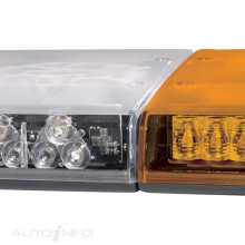LEGION LIGHT BAR AMBER 12 VOLT 1.7M 66 18 L.E.D MODULES