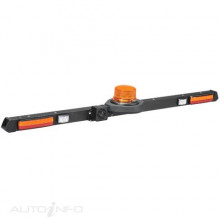 L.E.D LOW PROFILE ROTATING STROBE MINE BAR 12/24 VOLT 1.2M