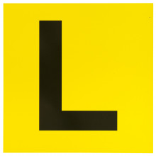 MAGNETIC L PLATES YELLOW/BLACK