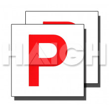 ELECTROSTATIC P PLATE WHITE/RED