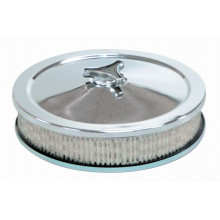 "TFIRACING Round 9"" X 2"" Chrome Filter Assembly & Paper Element for Weber ADM/ XE-XF Falcon"