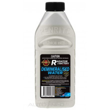 Demineralised water used for dilution of automtoive engine coolants