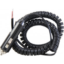 COILED EXTENSION LEAD WITH ACCESSORY PLUG