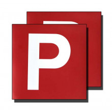 ELECTROSTATIC P PLATES RED/WHITE