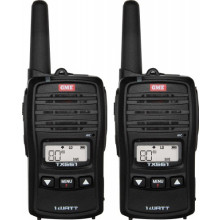 1W UHF HANDHELD TWIN PACK BLK
