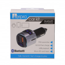 Bluetooth fm transmitter with fast charge USB