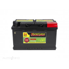 Supercharge Battery DIN75LH AGM Stop Start SIS ISS MF77HSS-800CCA