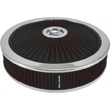 XTRAFLOW 14INX3IN BLACK/CHROME AIR FILTER ROUND