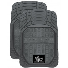 FLOOR MATS FRONT GRY HD RUBBER RMW