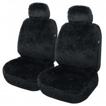 ARCTIC ACRYLIC FUR SEAT COVER 30/50 BLACK