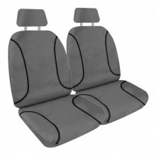 KAKADU CANVAS EXPANDER FIT SEAT COVERS GRY 30/50