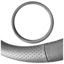 Seat Cover World Steering Wheel Cover - Medium 15inch - LEATHER Avoca Charcoal