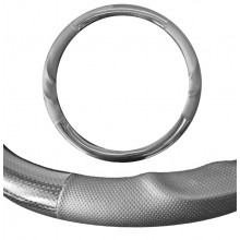 Seat Cover World Steering Wheel Cover - Medium 15inch - Royal Grip Charcoal
