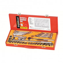 SUPATOOL Socket Set Tin 1/2 35Pc