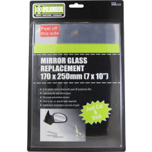MIRROR GLASS REPLACEMENT 170MM x 250MM (7 x 10INCH)