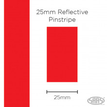 Saas Reflective Tape 25mmx1m Red
