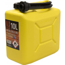 FUEL CAN 10L YELLOW PLASTIC
