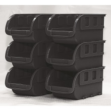Black Storage Totes - Small 6Pack