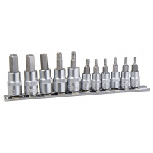 "Garage Tuff HEX Socket Set 11Piece Metric 1/4"" & 3/8I"