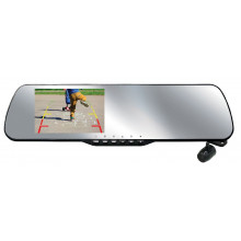 "Parkmate 4.3"" Clip On Rearview Mirror with Buit-In HD Dash Cam Plus Camera Pack"
