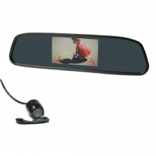 "4.3"" MIRROR MOUNT DISPLAY REVERSE CAMERA KIT"