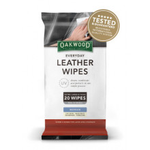Oakwood Everyday Leather Wipes x 20PK (200mm x 300mm)