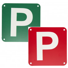 PLASTIC P PLATE RED/WHITE & GREEN/WHITE