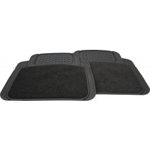 Streetwize Floor Mats Miami Set 2 Rear Charcoal Carpet/Rubber