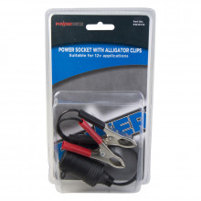 POWER SOCKET WITH ALLIGATOR CLIPS