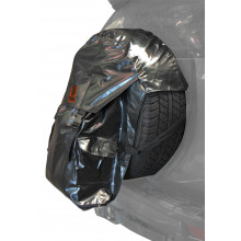 REAR WHEEL RUBBISH BIN AND STORAGE BAG
