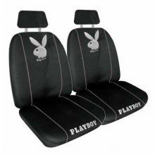 SEAT COVER PLAYBOY METALLIC SILVER 60