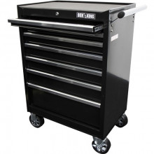 "BOXKING 27"" 7 Drawer Black Tool Trolley"