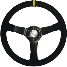 SUEDE STEERING WHEEL