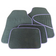 Streetwize Floor Mats Austin Set 4 Purple/Black Carpet