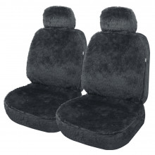 Streetwize Arctic Acrylic Fur Seat Cover 30/50 Charcoal