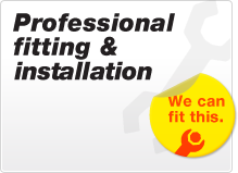 Professional fitting and installation